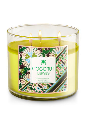 Coconut Leaves 3-Wick Candle - Bath And Body Works