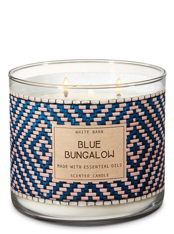 Blue Bungalow 3-Wick Candle - Bath And Body Works