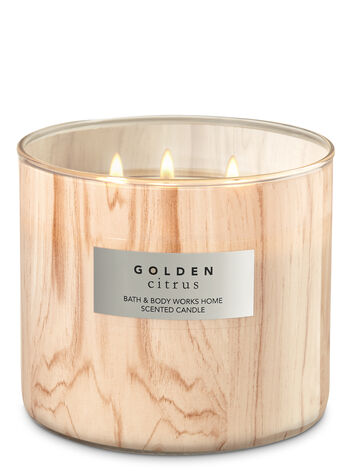 White Barn Golden Citrus 3-Wick Candle - Bath And Body Works