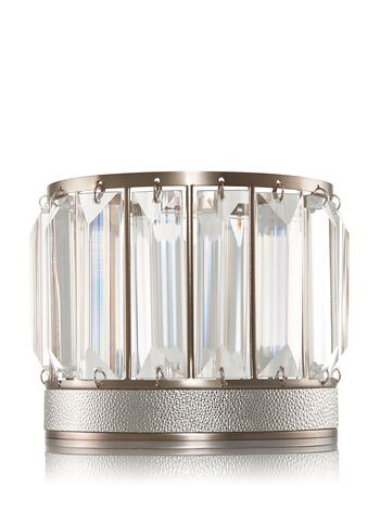 Modern Crystal 3-Wick Candle Sleeve