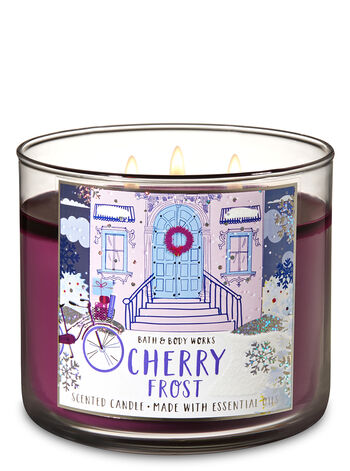 Cherry Frost 3-Wick Candle - Bath And Body Works