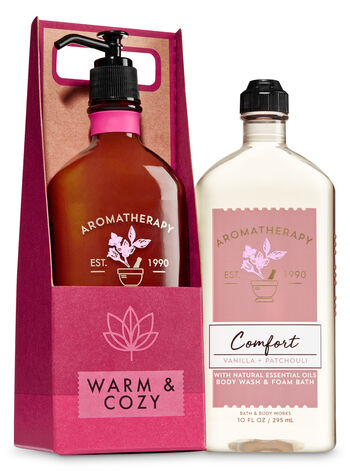 Aromatherapy Comfort - Vanilla & Patchouli Warm & Cozy Gift Set - Bath And Body Works