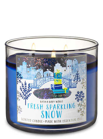 Fresh Sparkling Snow 3-Wick Candle - Bath And Body Works