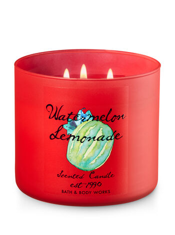 Watermelon Lemonade 3-Wick Candle - Bath And Body Works
