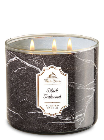 Black Teakwood 3-Wick Candle - Bath And Body Works