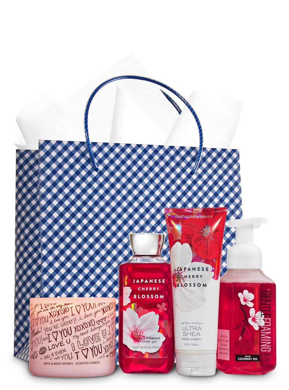 Japanese Cherry Blossom Ultimate Fragrance Fan Gift Kit | Bath ...