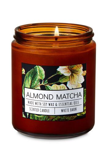 Almond Matcha Single Wick Candle - Bath And Body Works