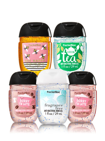 Happy Hands 5-Pack PocketBac Sanitizers - Bath And Body Works