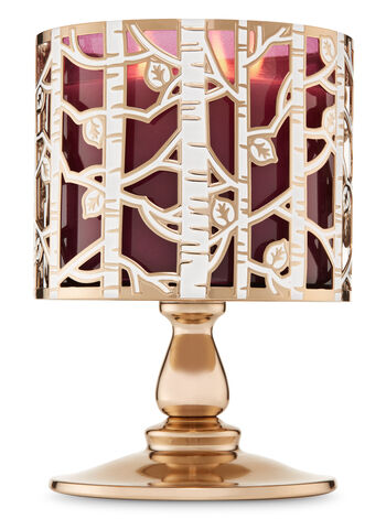 Birch Forest Pedestal 3-Wick Candle Holder - Bath And Body Works