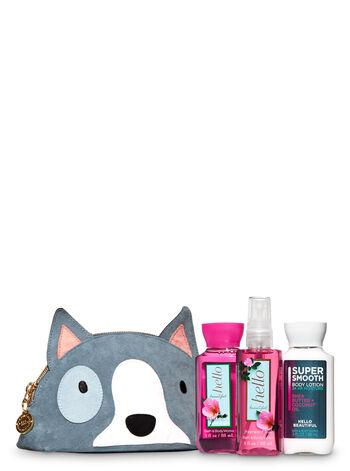 Hello Beautiful Dog Cosmetic Bag Gift Set