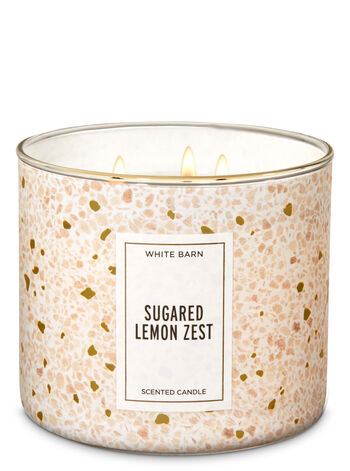 White Barn Sugared Lemon Zest 3-Wick Candle - Bath And Body Works