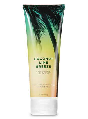 Signature Collection Coconut Lime Breeze Triple Moisture Body Cream - Bath And Body Works