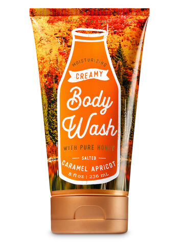 Signature Collection Salted Caramel Apricot Creamy Body Wash - Bath And Body Works