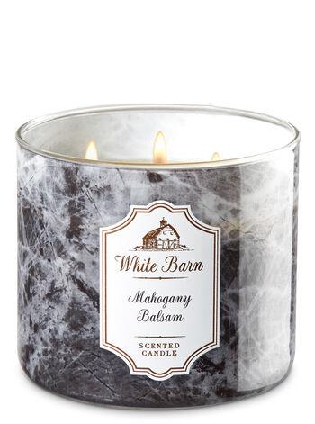 White Barn Mahogany Balsam 3-Wick Candle - Bath And Body Works