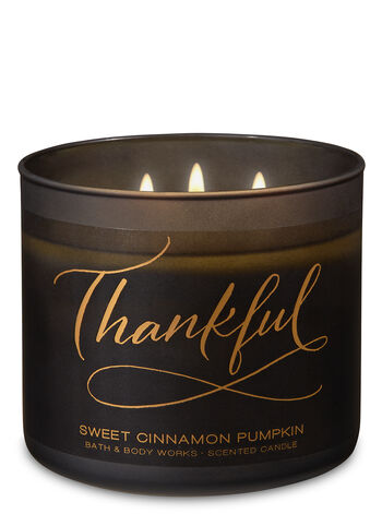 Sweet Cinnamon Pumpkin 3-Wick Candle - Bath And Body Works