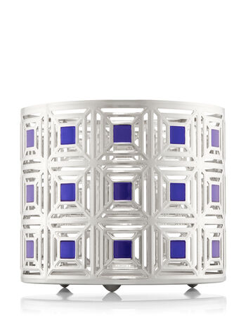 Blue Squares 3-Wick Candle Sleeve