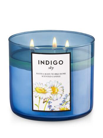 Indigo Sky 3-Wick Candle - Bath And Body Works