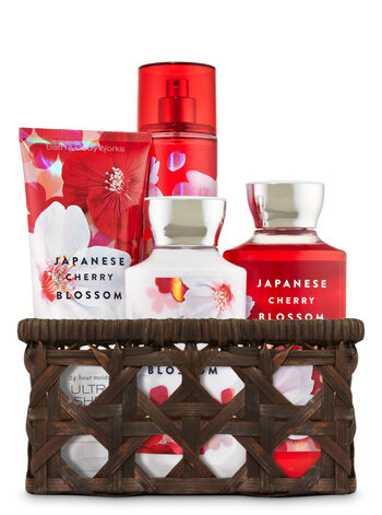 Japanese Cherry Blossom Basket of Favorites Gift Kit - Bath And Body Works