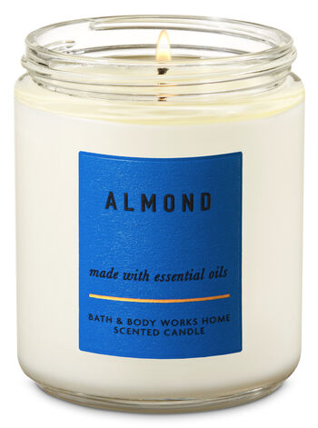 Almond Single Wick Candle - Bath And Body Works