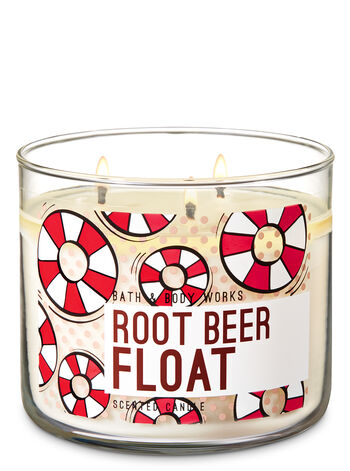 Root Beer Float 3-Wick Candle - Bath And Body Works