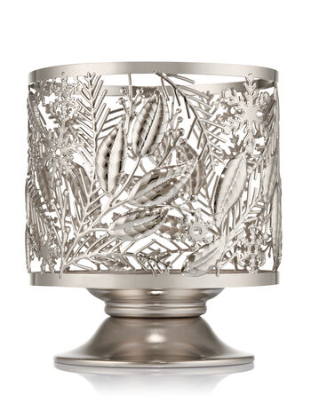 Winter Greens Pedestal 3-Wick Candle Sleeve