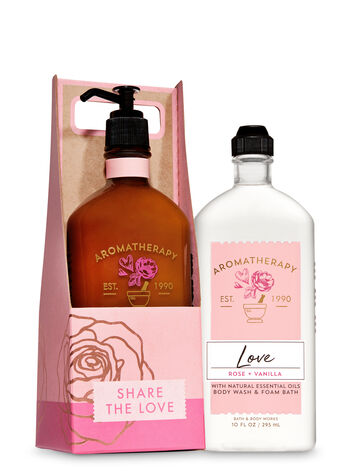Love — Rose & Vanilla Share the Love Gift Set - Bath And Body Works