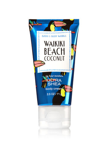 Signature Collection Waikiki Beach Coconut Travel Size Body Cream - Bath And Body Works