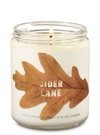 Cider Lane Single Wick Candle - Bath And Body Works