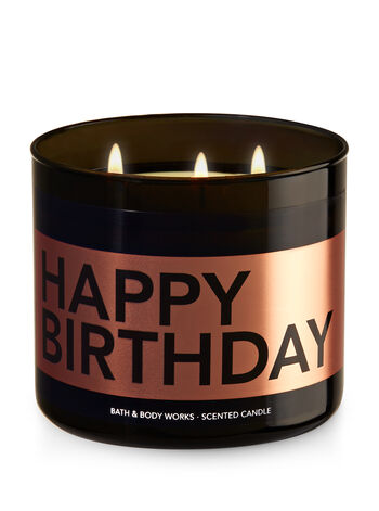 Happy Birthday - Buttercream Icing 3-Wick Candle - Bath And Body Works