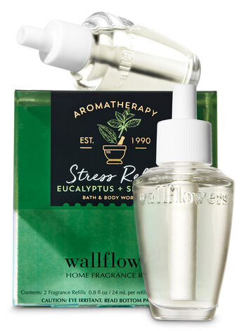 Aromatherapy Stress Relief - Eucalyptus & Spearmint Wallflowers Refills, 2-Pack - Bath And Body Works