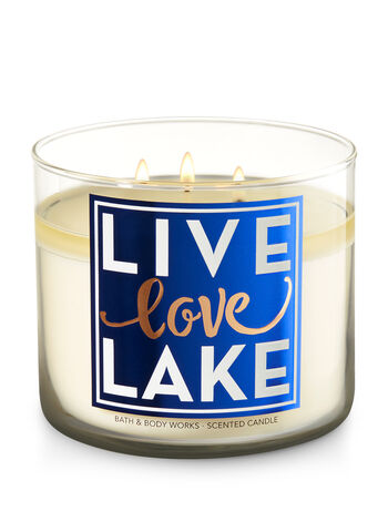 Live Love Lake - Turquoise Waters 3-Wick Candle - Bath And Body Works