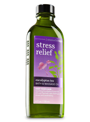 Aromatherapy Eucalyptus Tea Massage Oil - Bath And Body Works