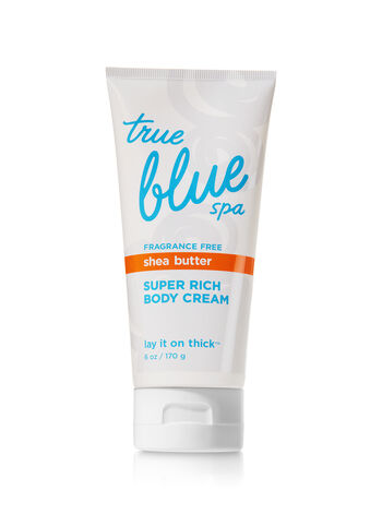 True Blue Spa Fragrance Free Super Rich Body Cream - Bath And Body Works