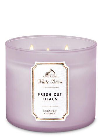 White Barn Fresh Cut Lilacs 3-Wick Candle - Bath And Body Works