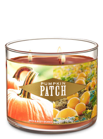 Pumpkin Patch 3-Wick Candle - Bath And Body Works