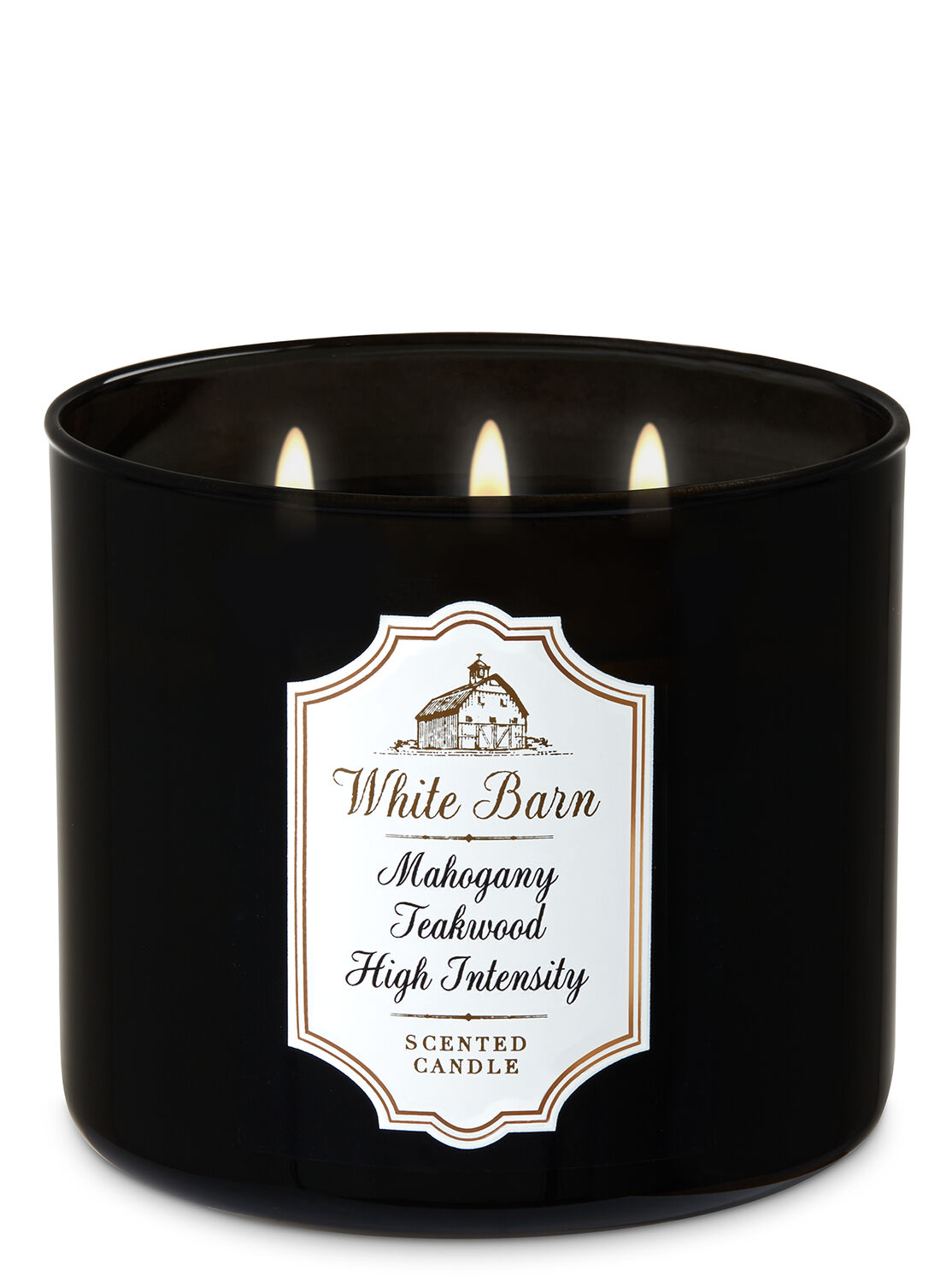 Mahogany Teakwood High Intensity 3-Wick Candle - White Barn | Bath & Body  Works