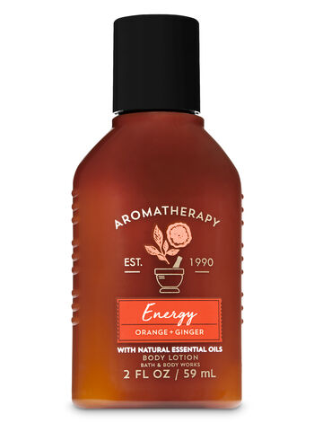 Aromatherapy Energy - Orange & Ginger Travel Size Body Lotion - Bath And Body Works