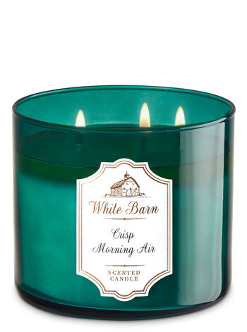White Barn Crisp Morning Air 3-Wick Candle - Bath And Body Works