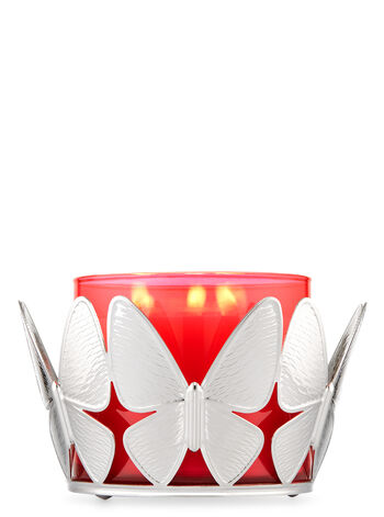 Textured Butterflies 3-Wick Candle Holder - Bath And Body Works