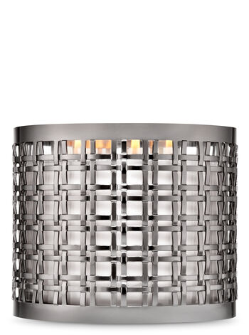 Black Nickel Double Weave 3-Wick Candle Sleeve