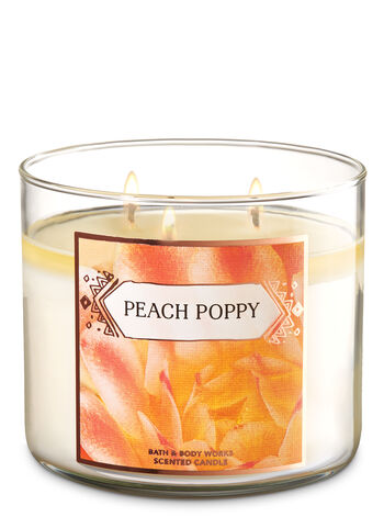 Peach Poppy 3-Wick Candle - Bath And Body Works
