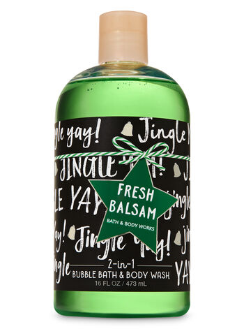 Signature Collection Fresh Balsam 2-in-1  Bubble Bath & Body Wash - Bath And Body Works