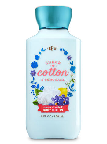 Signature Collection Sheer Cotton & Lemonade Body Lotion - Bath And Body Works