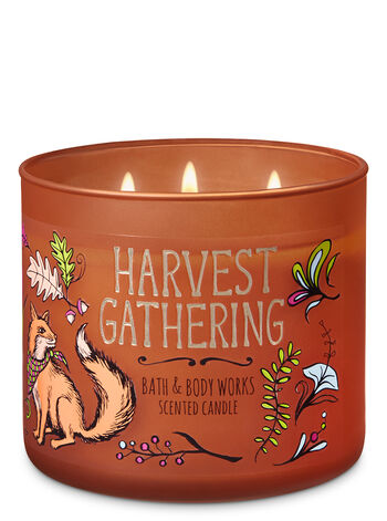 Harvest Gathering 3-Wick Candle - Bath And Body Works