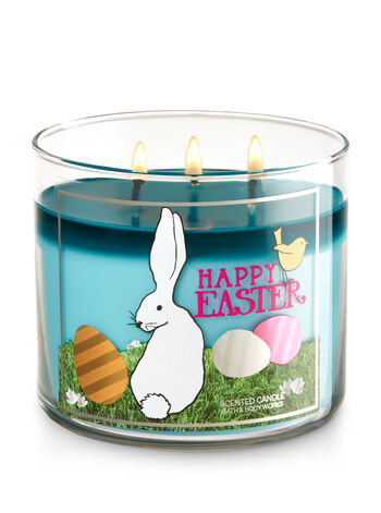 Happy Easter - Sugared Candy Bunny 3-Wick Candle - Bath And Body Works