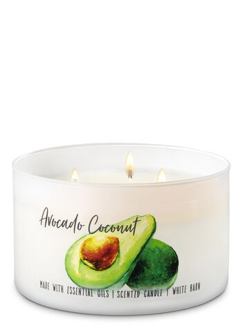 Avocado Coconut 3-Wick Candle - Bath And Body Works