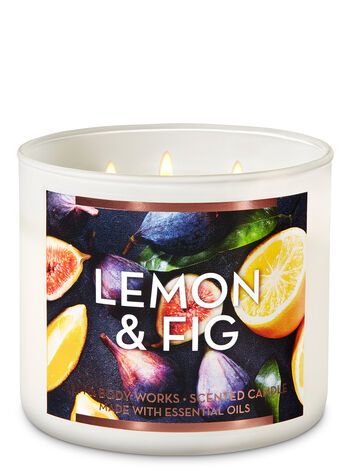 Lemon & Fig 3-Wick Candle - Bath And Body Works