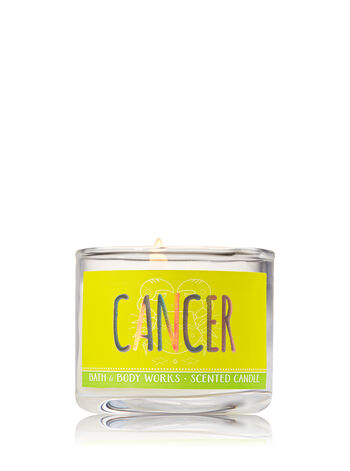 Cancer Blue Ocean Waves Mini Candle