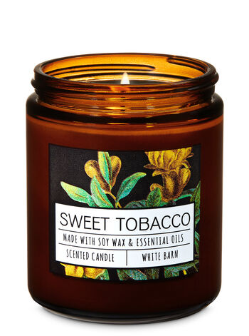 Sweet Tobacco Single Wick Candle - Bath And Body Works