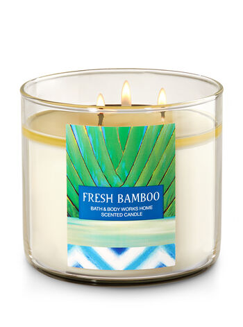 Fresh Bamboo 3-Wick Candle - Bath And Body Works